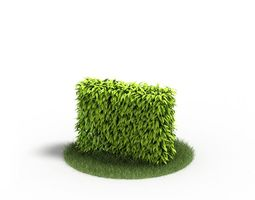 3d green grass wall