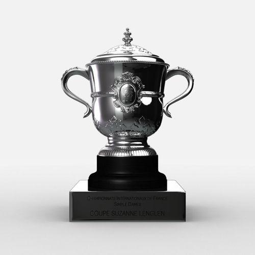 roland garros womens trophy 3d model max obj mtl 3ds fbx c4d ma mb 1