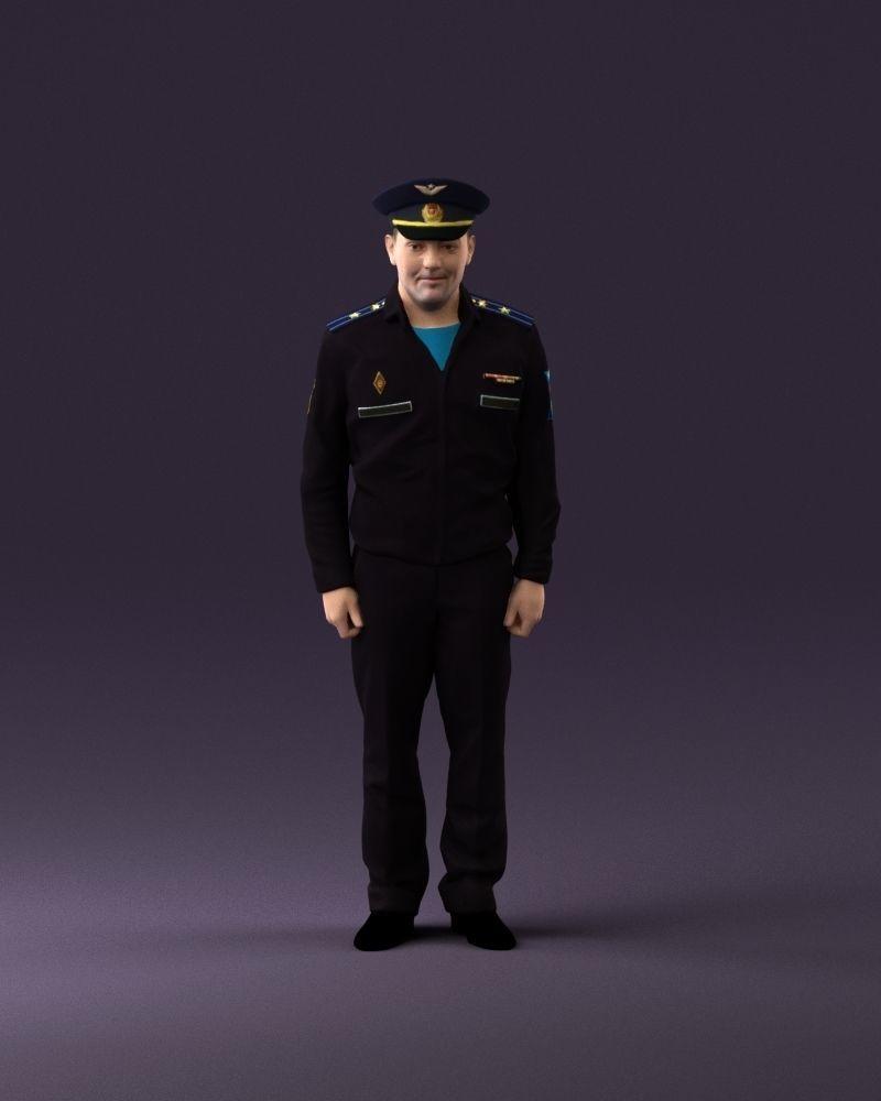 man in russian army blue uniform 1110