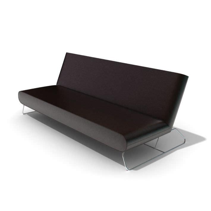 Modern Black Leather Sofa   3D model