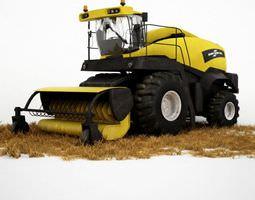 tractor harvester 3d model