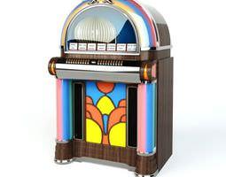 colorful jukebox 3d model