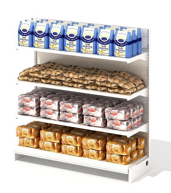 Grocery Store Shelf With Baking Goods | 3D model