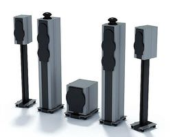 3d model home theater sound system