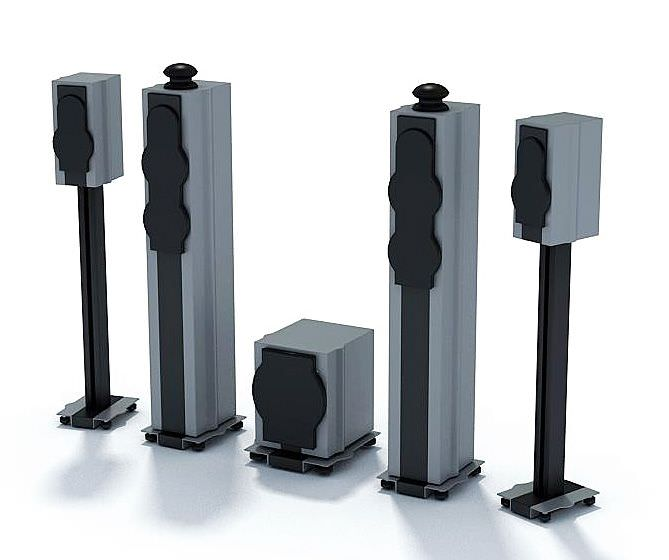 Home Theater Sound System 3d Model