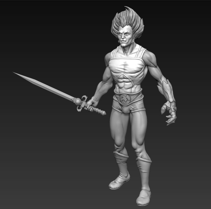 Lion-o Thundercats Figure with Sword of Omens and Claw Shield