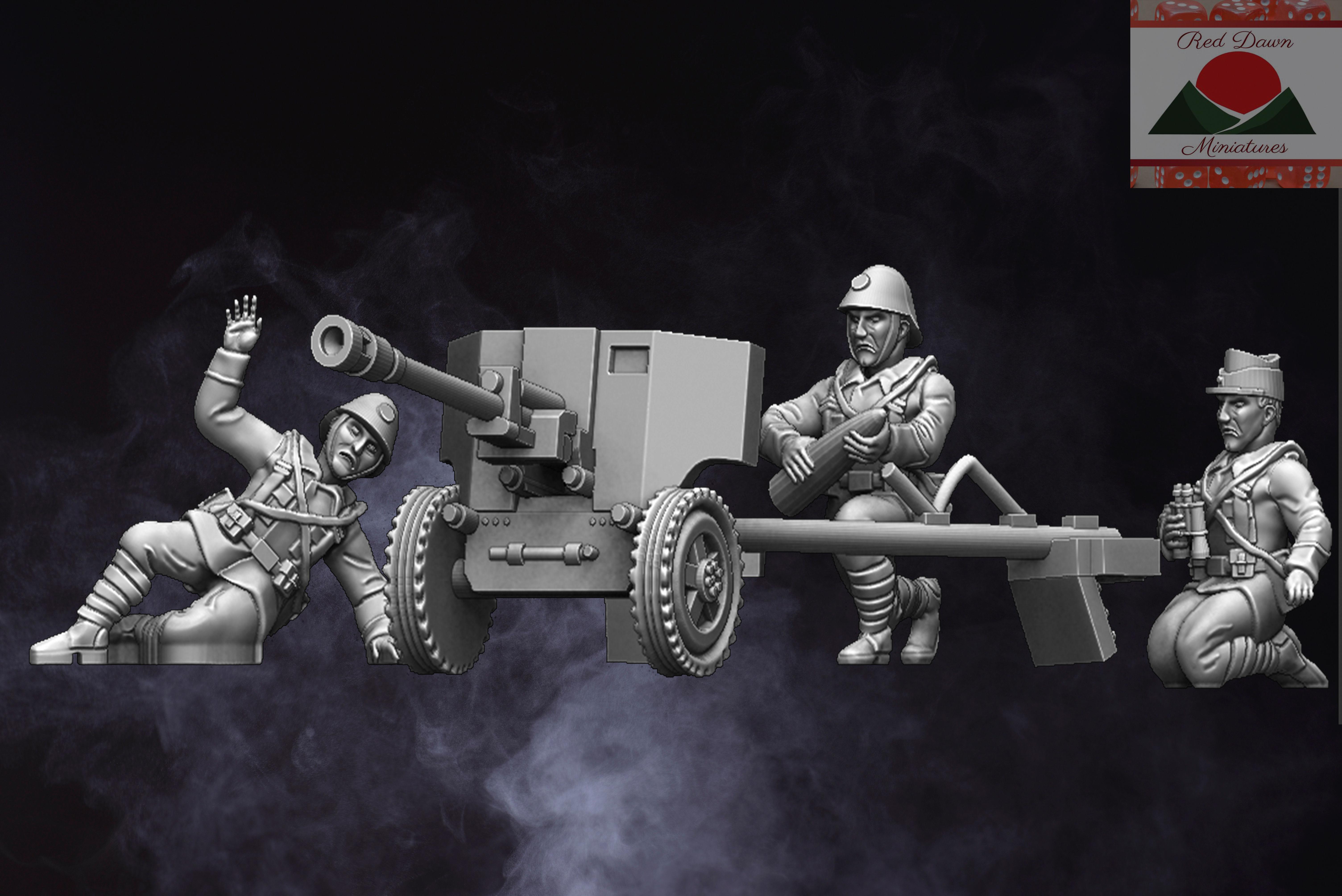 28mm Romanian Artillery WW2