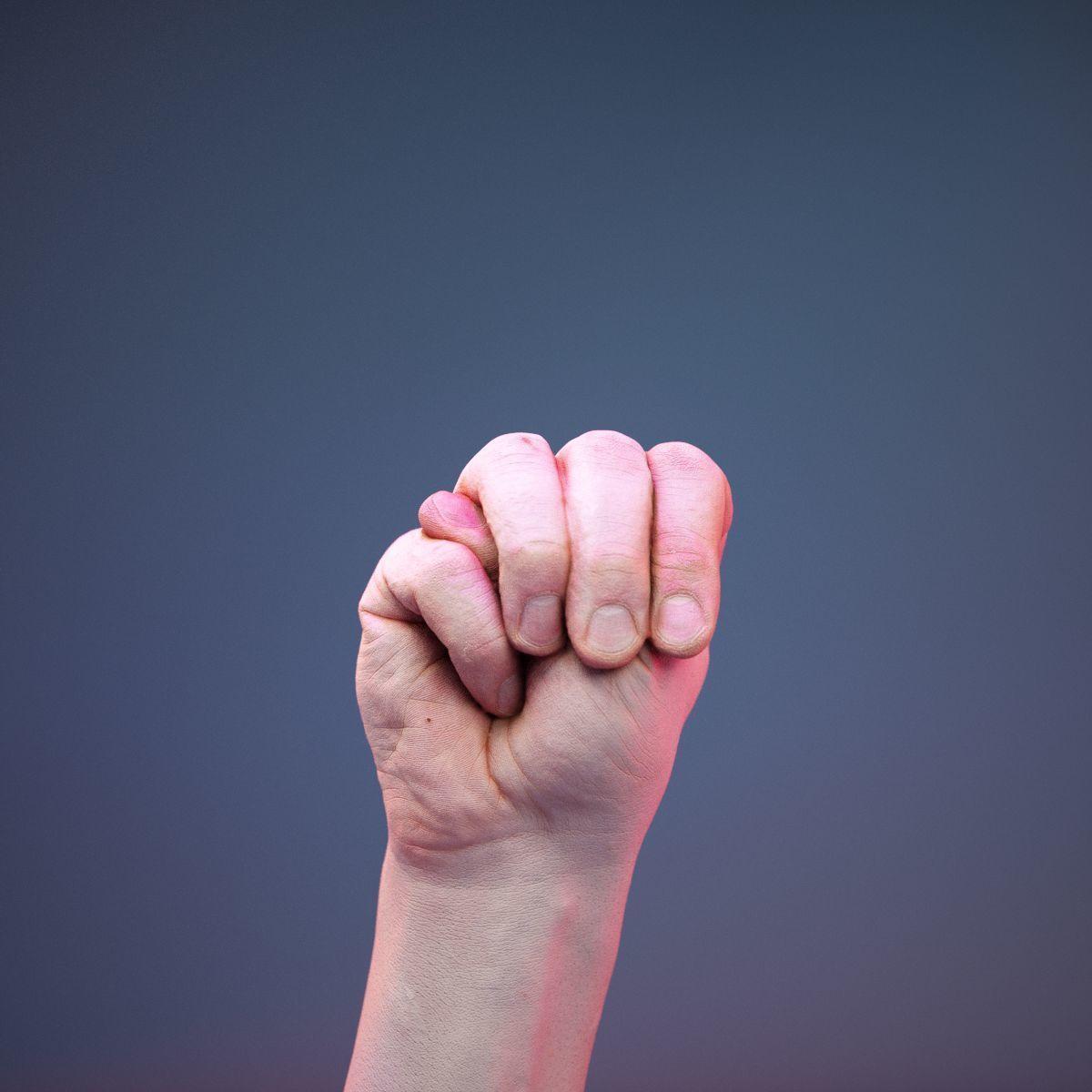 Finger Alphabet M