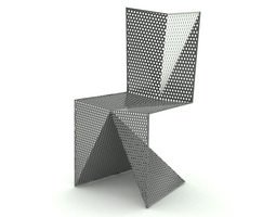 contemporary steel chair 3d model max obj