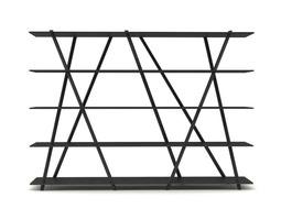 contemporary steel bookshelf 3d model max obj