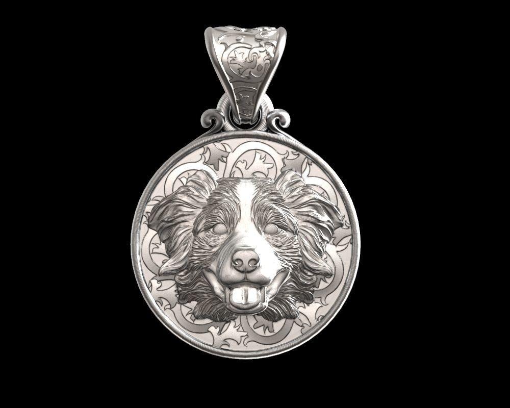 Dog Australian shepherd pendant