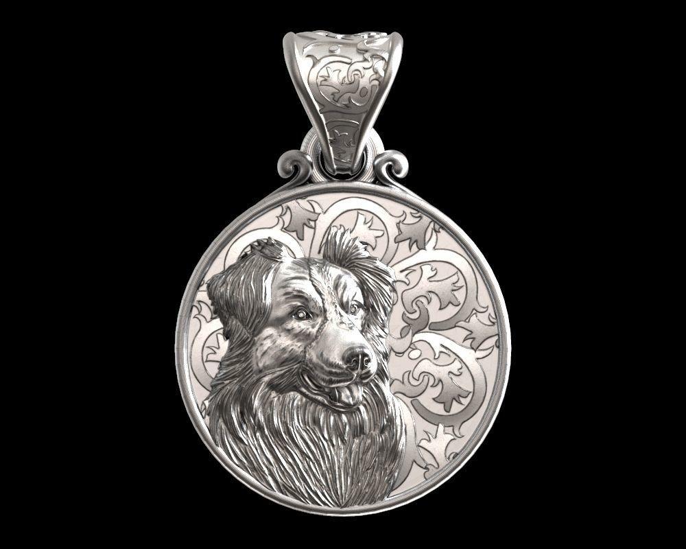 Dog Border collie pendant