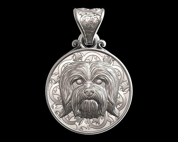 Dog Havanese dog bichon pendant