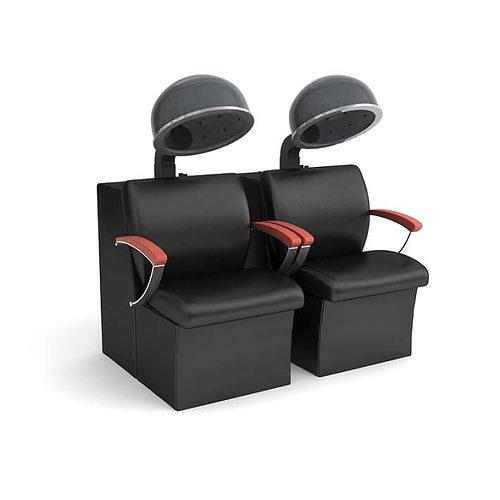 beauty parlour chair 3d model obj 1
