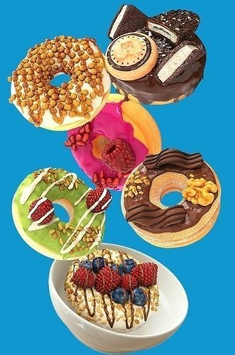 8 Donut with toppings pack