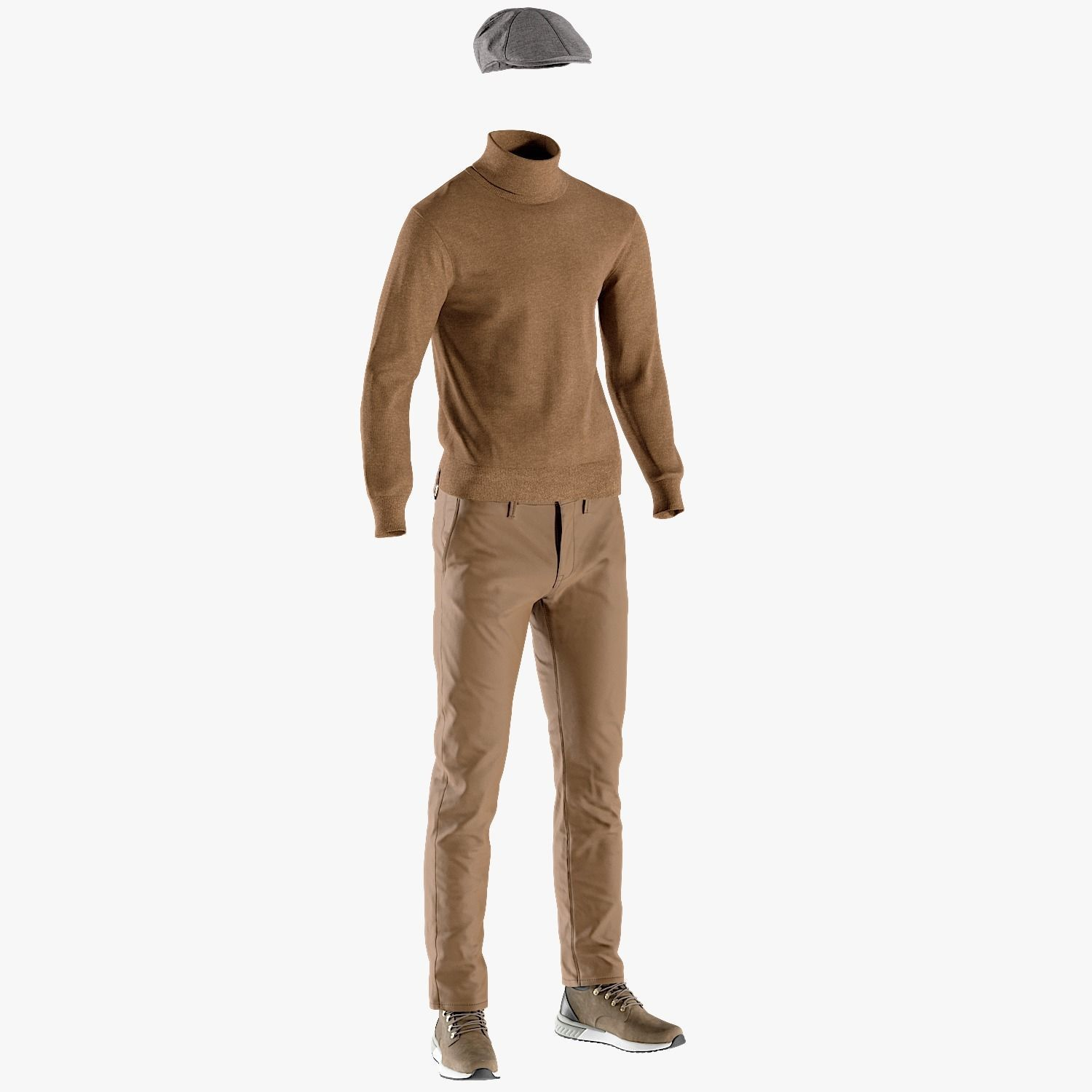 Mens Boots with Pants Pullover Hat 15