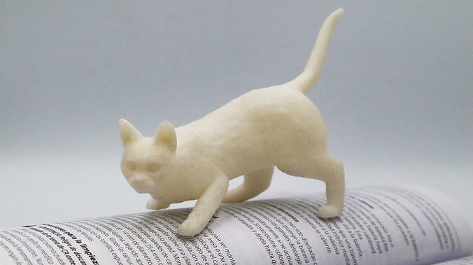 Cat Hunting Pose 3D Print