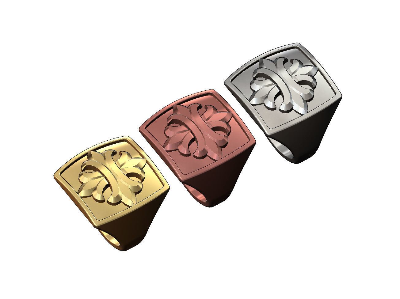Large iron work ornament ring US sizes 8 9 10