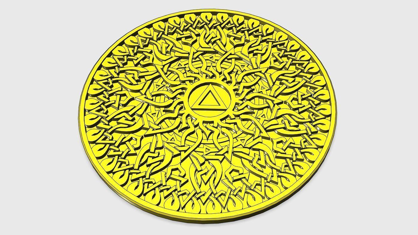 Solar Plexus Chakra Coaster