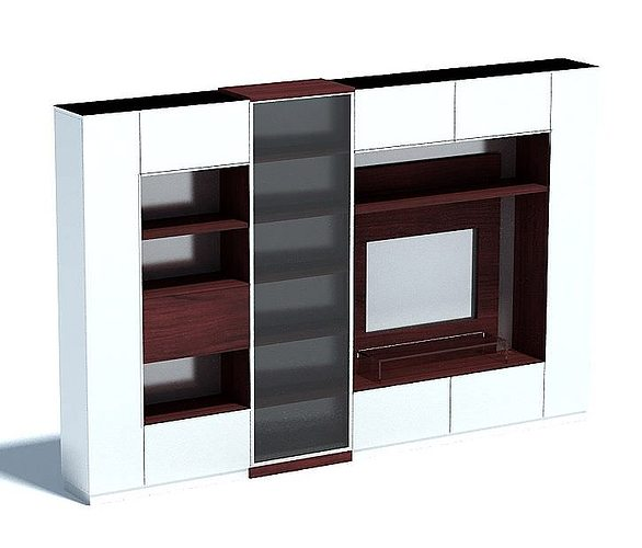 living room entertainment system 3d model max