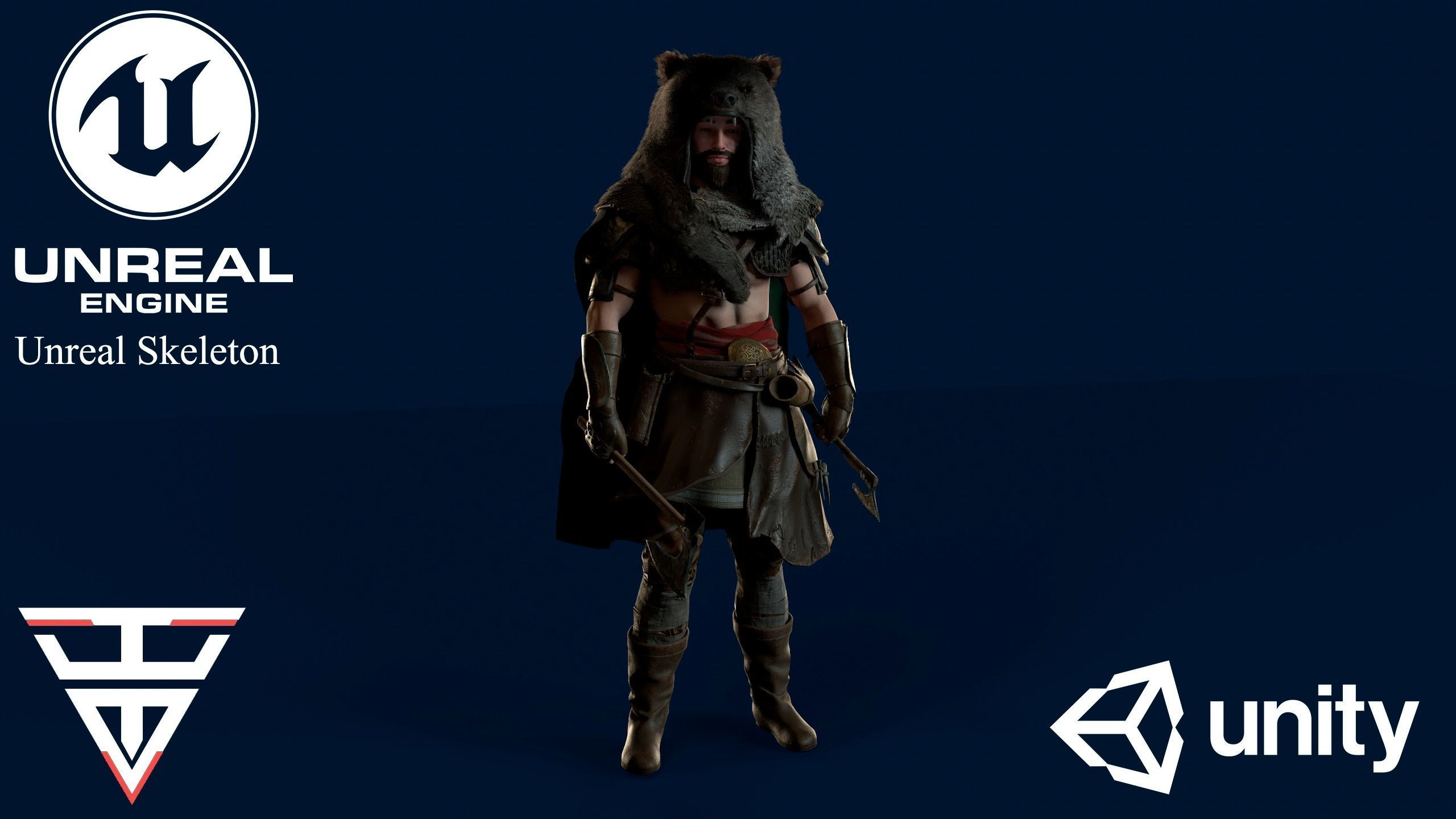 Viking Berserker - Game Ready Low-poly 3D model