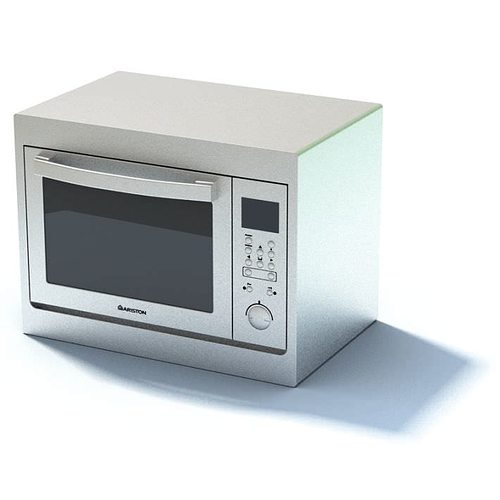 Tiny Small Microwave Oven: New White Compact Microwave Oven 3D Model
