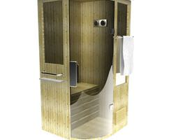 high tech beautifully crafted personal sauna 3d model
