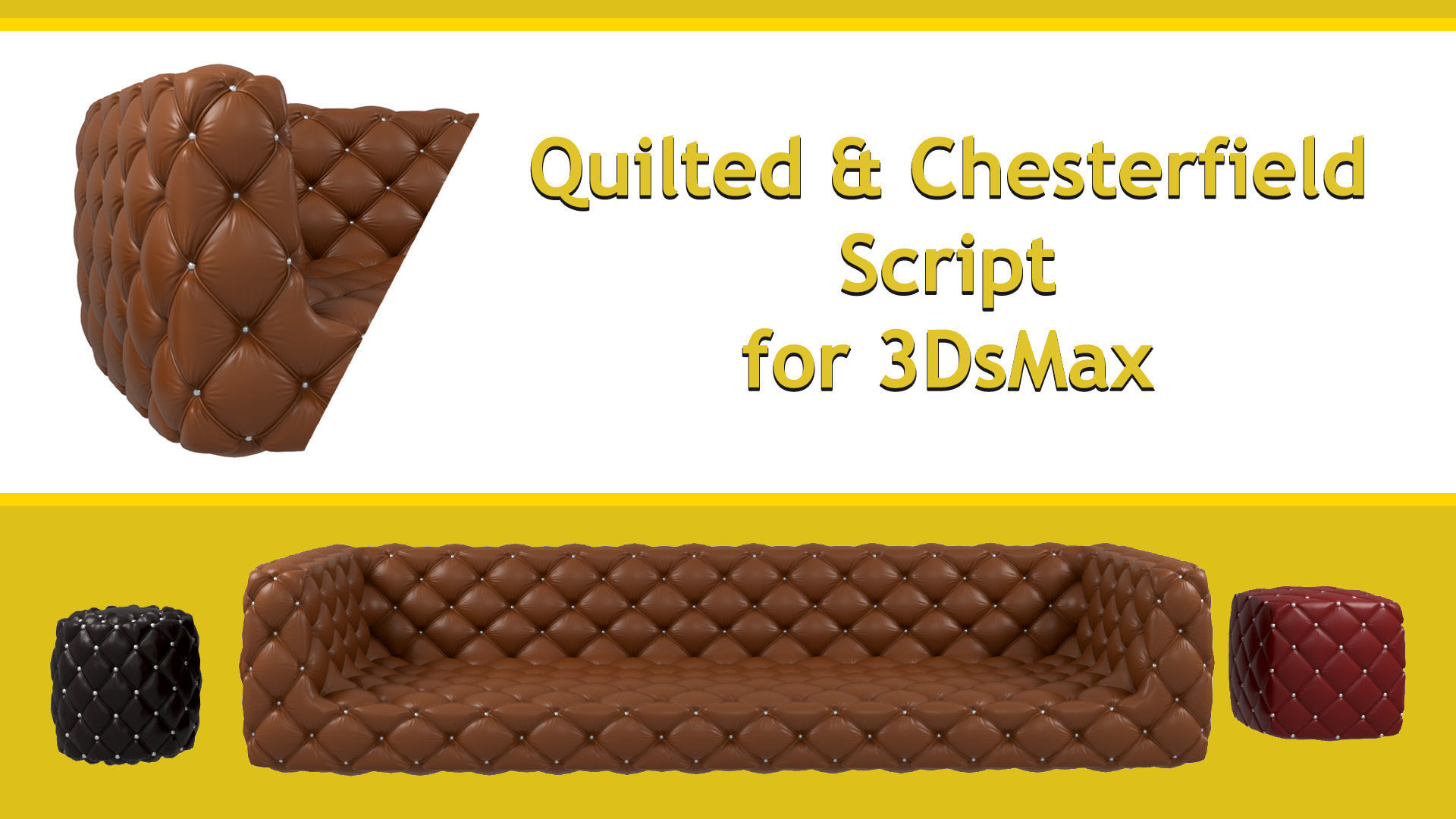 Quilted and Chesterfield Script