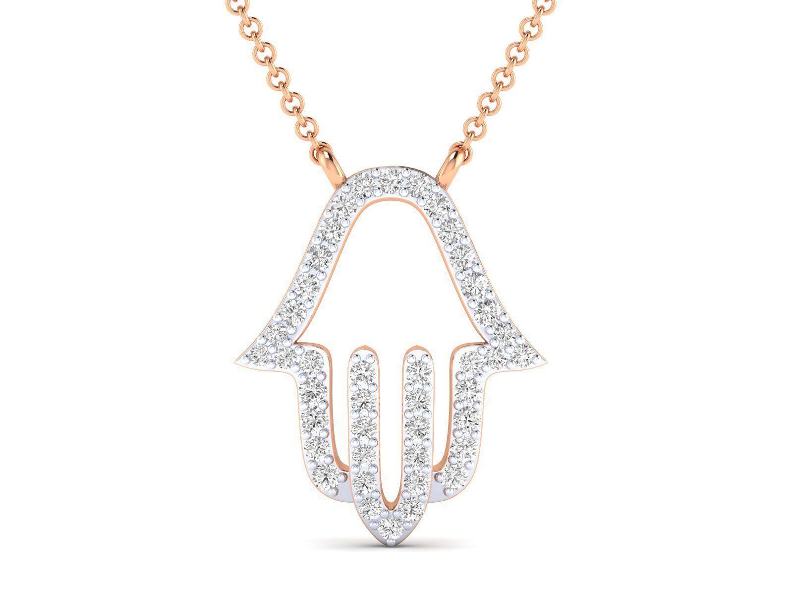 Women necklace pendant 3dm stl render detail