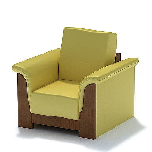 Brown And Lime Modular mercial fice Lounge Chair 3D model
