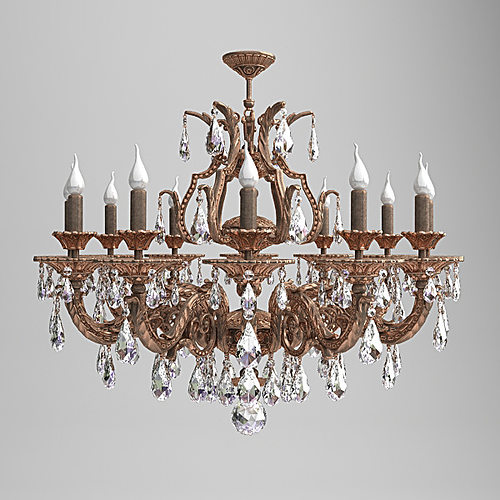 milano ornate chandelier 3d model max 3ds fbx 1