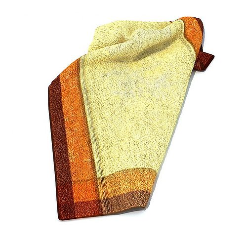 cream cotton towel with two color border 3d model  1
