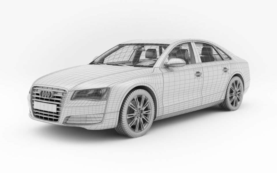 Beau Car Audi A8 3d Model Obj 1