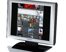 Captiva Silver Monitor 3D model