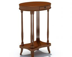 wooden classic furniture small table 3d