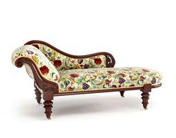 3d model colorful antique sofa