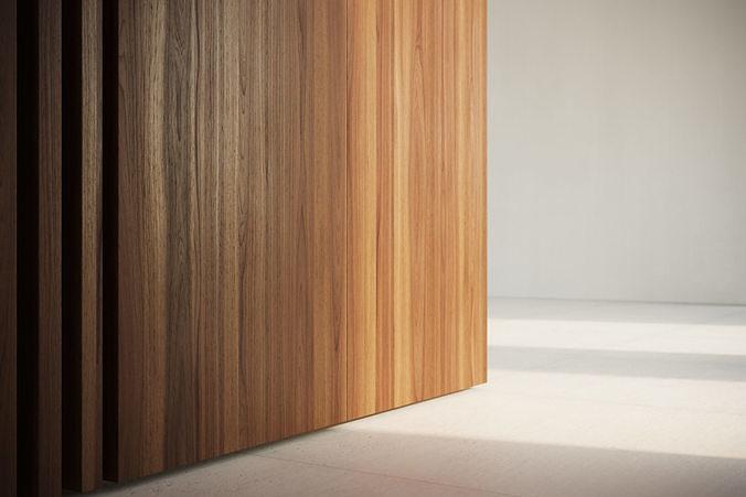 Raw Walnut veneer texture