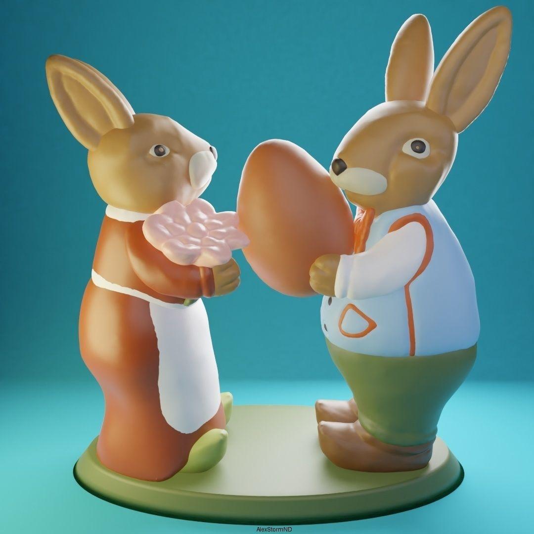 Easter Bunnies Robert and Martha