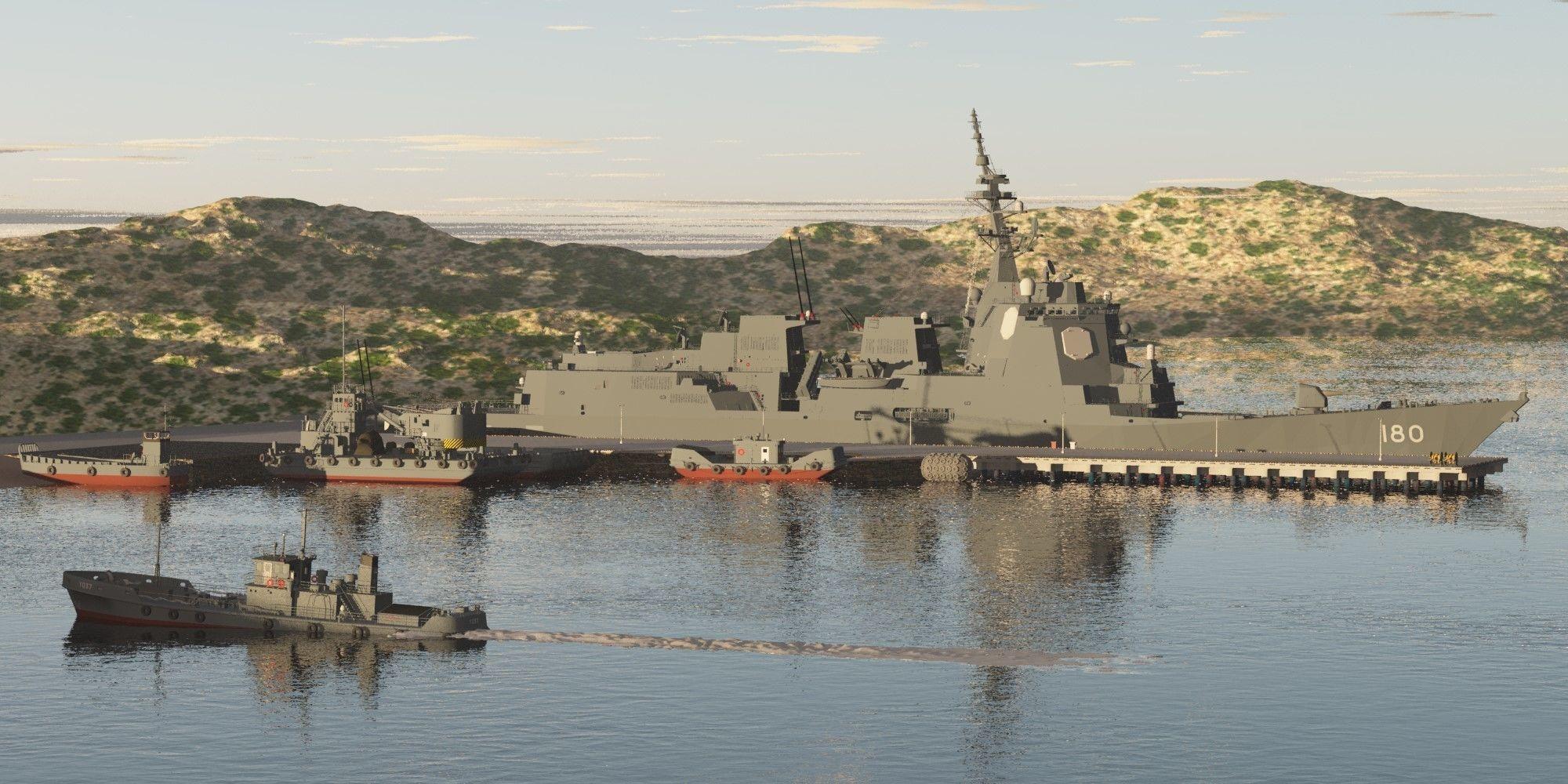 JMSDF DDG-180 HAGURO guided-missile destroyer