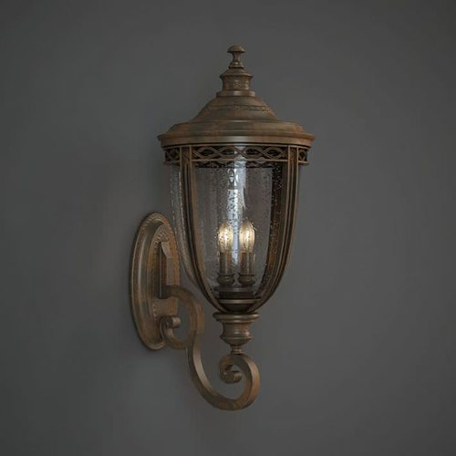 Exterior wall lamp 3d model obj for Exterior 3d model