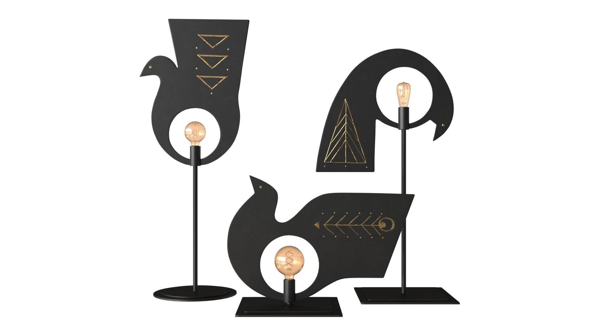 AV Metal Pavoncelle Trio Lamp