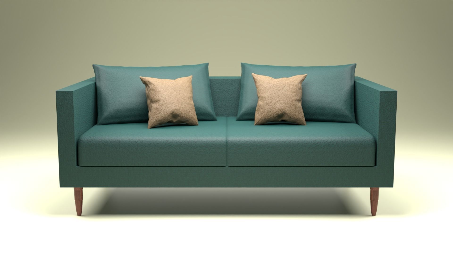 Sofa Set with PBR Textures 2 3D model | CGTrader