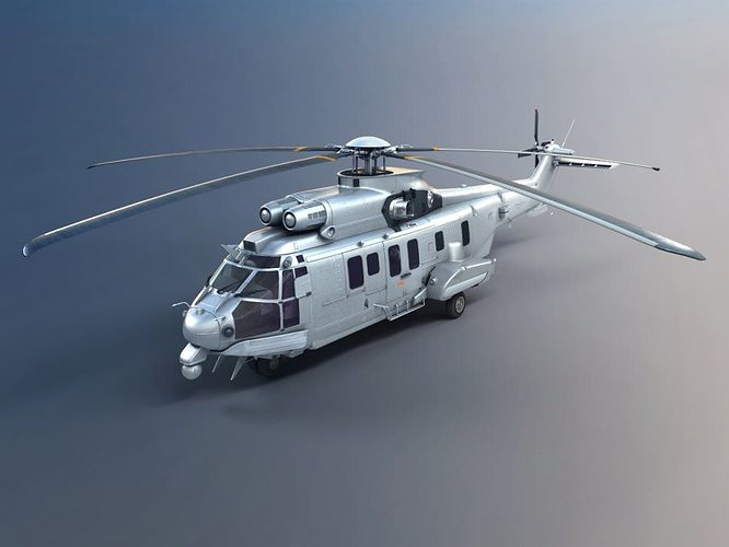 army helicopter 3d model obj 1