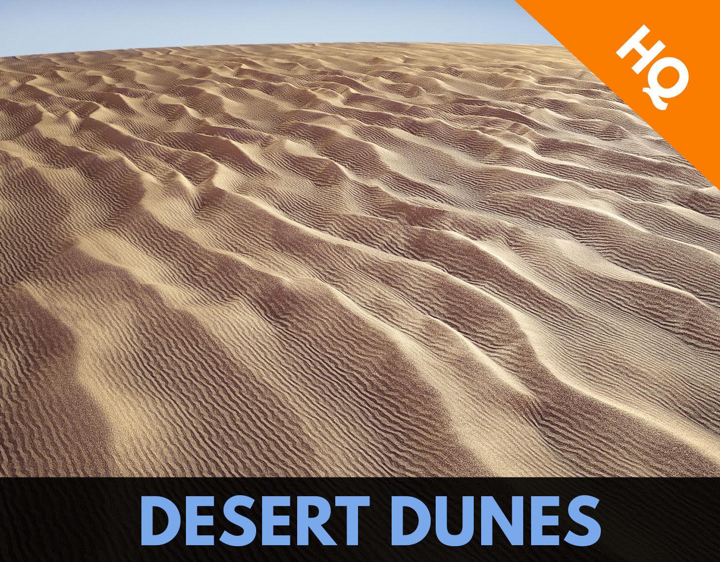 Dunes Low Poly Sahara Terrain Ground Sand Egypt Desert PBR