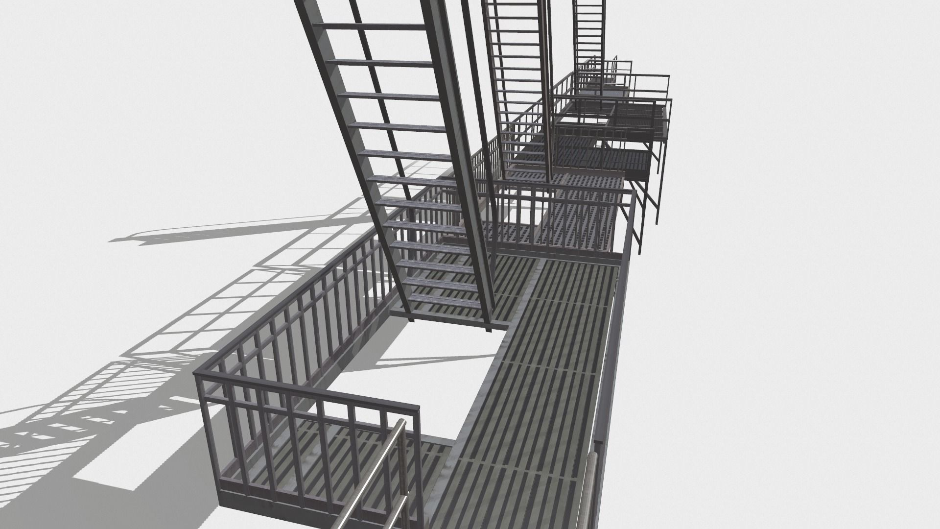 Fire ladders and platforms