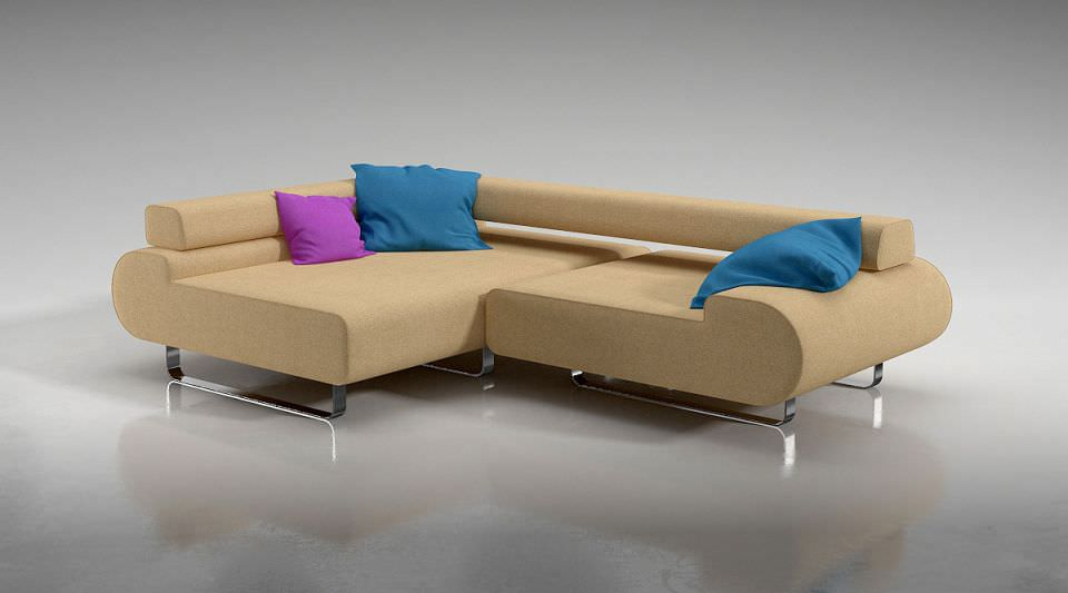 L Shaped Corner Sofa | 3D model