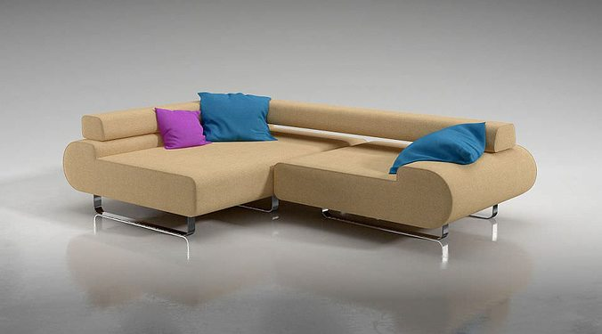 3D L Shaped Corner Sofa | CGTrader