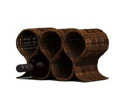 wicker wine rack 3d