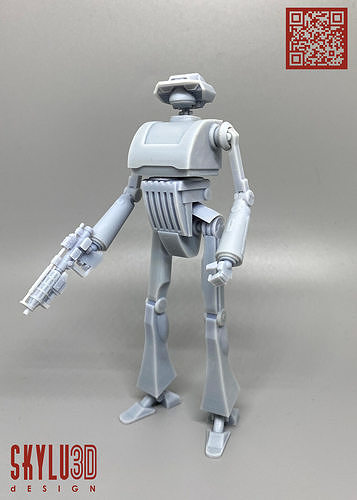Tx Series Tactical Droid One12 Scale articulation STL 3d model