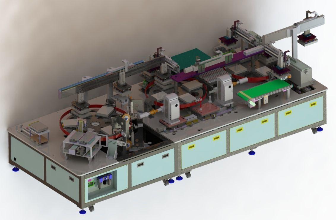 Lithium battery welding glue machine